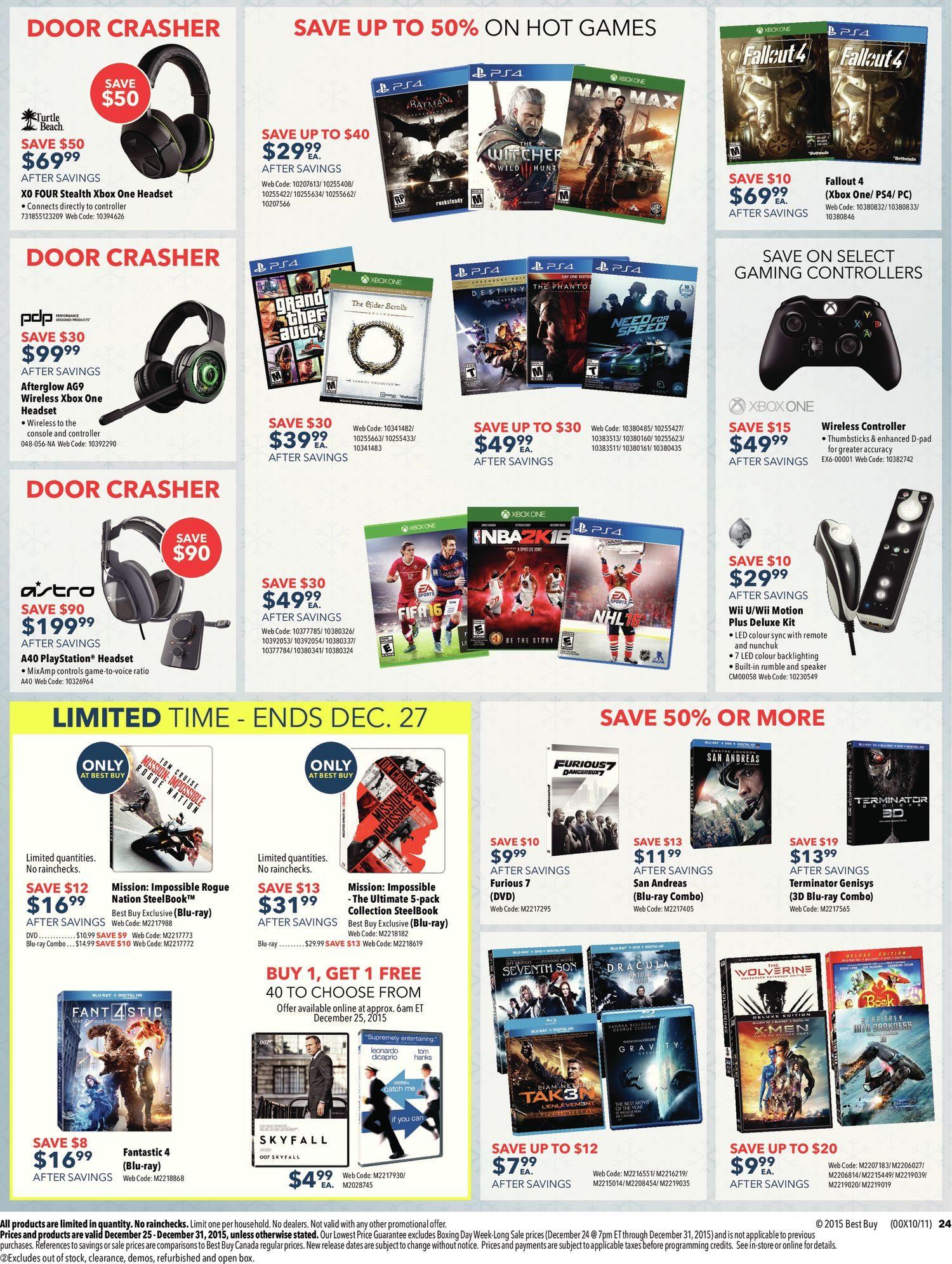 Best Buy Weekly Flyer Boxing Week Long Sale Dec 25 31 Logitech Wireless Mouse M325 Circuit Board 910 002416