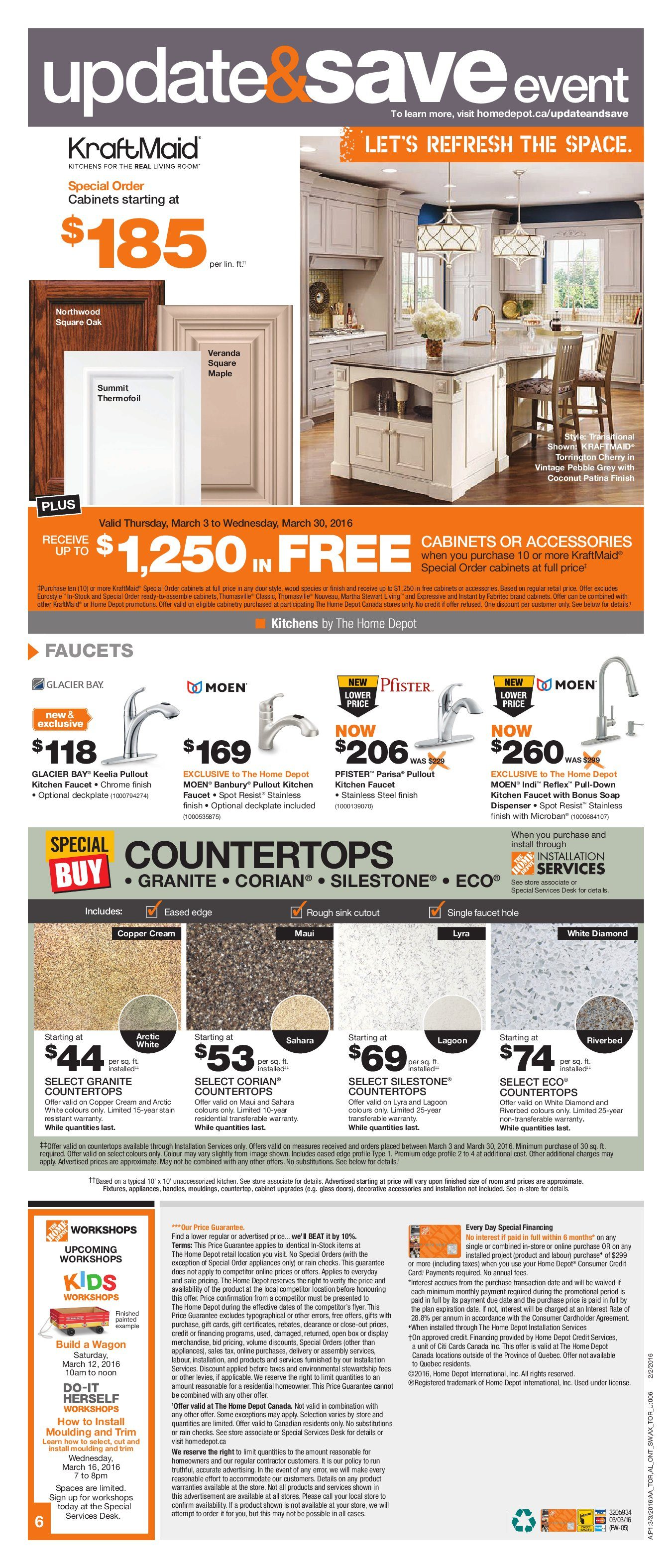 Home Depot Weekly Flyer - Weekly - Mar 3 – 9 - RedFlagDeals com