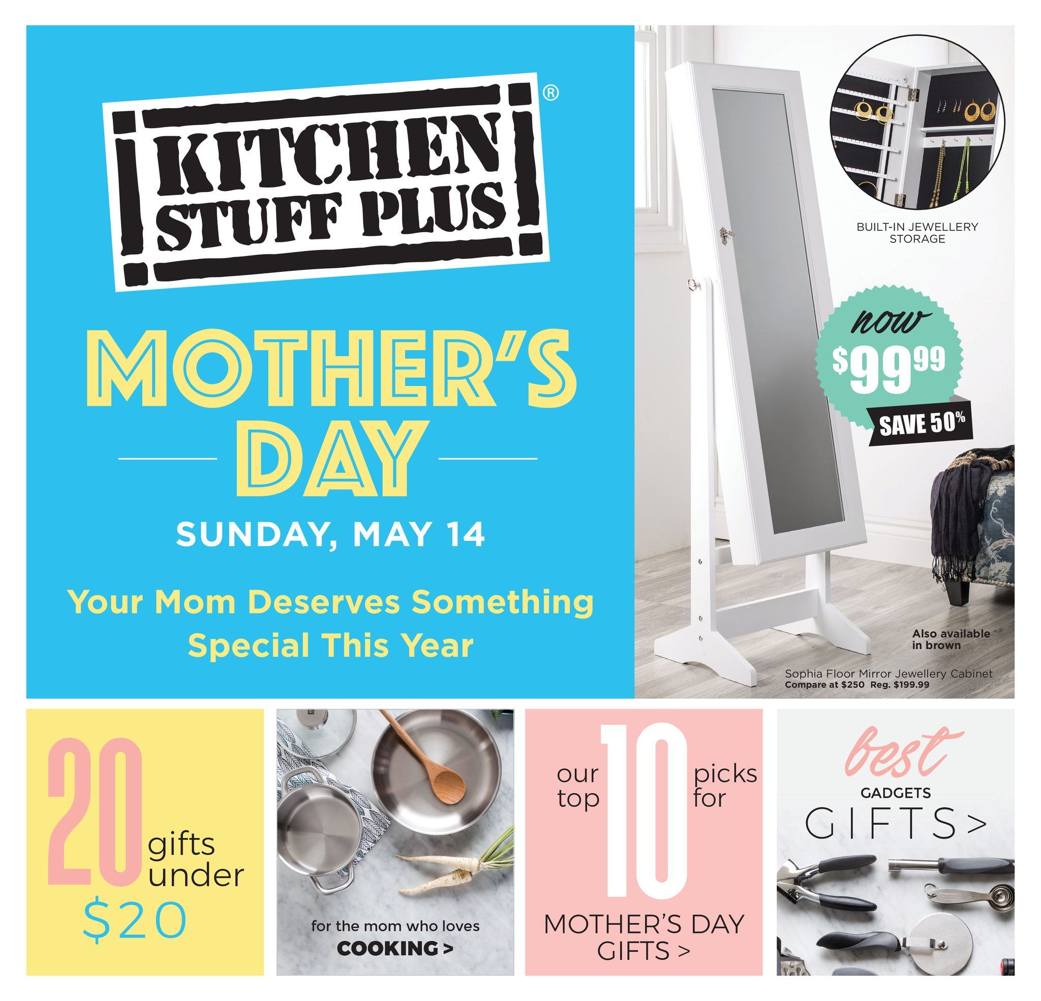 Kitchen Stuff Plus Weekly Flyer - Great Mother\'s Day Gift Ideas ...