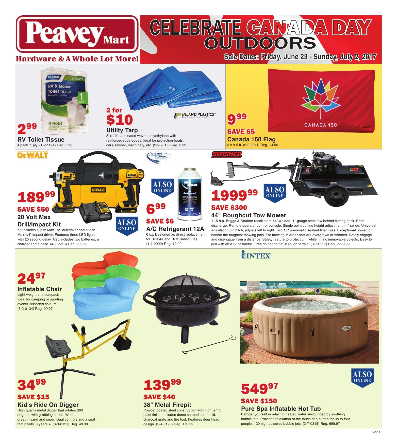 Peaveymart Weekly Flyer Celebrate Canada Day Outdoors Jun 23 Jul 2 Redflagdeals Com
