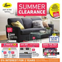 Leon's - Part of the Family - Summer Clearance Flyer