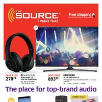 The Source - 2 Weeks of Savings - The Place for Top-Brand Audio Flyer