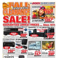 2001 Audio Video - Weekly - Fall Clearance Sale! Final Week Flyer