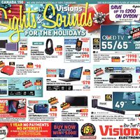 Visions Electronics - Weekly - Sights & Sounds For The Holidays Flyer