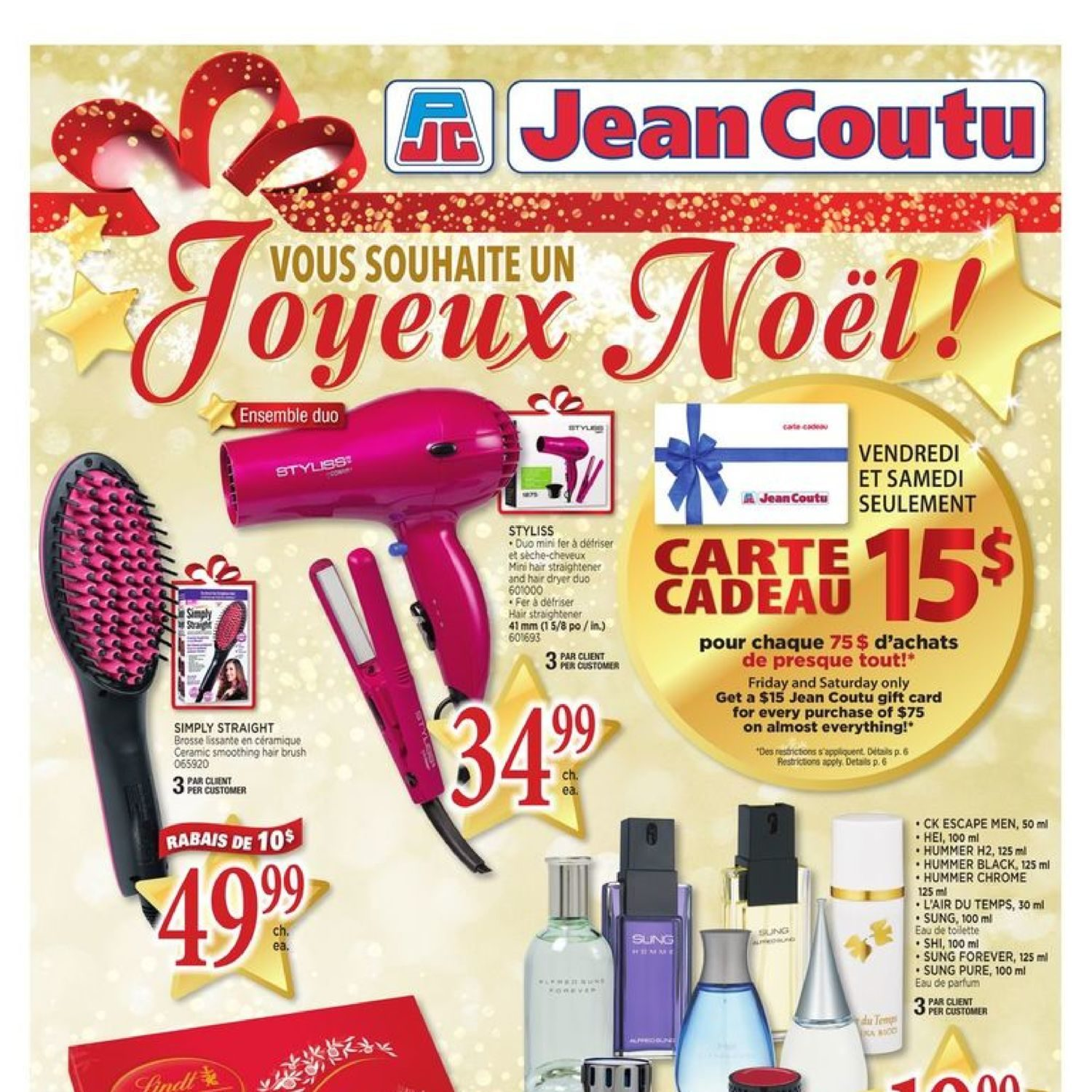 Jean Coutu Weekly Flyer Wish You A Merry Christmas Dec 21 27