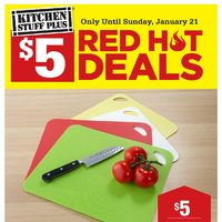 Kitchen Stuff Plus - Red Hot Deals - $5 Deals Flyer