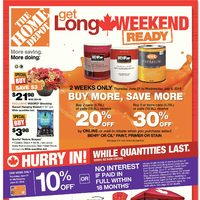 Home Depot - Weekly - Get Long Weekend Ready Flyer