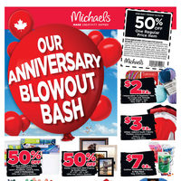 Michaels - Weekly - Our Anniversary Blowout Bash Flyer