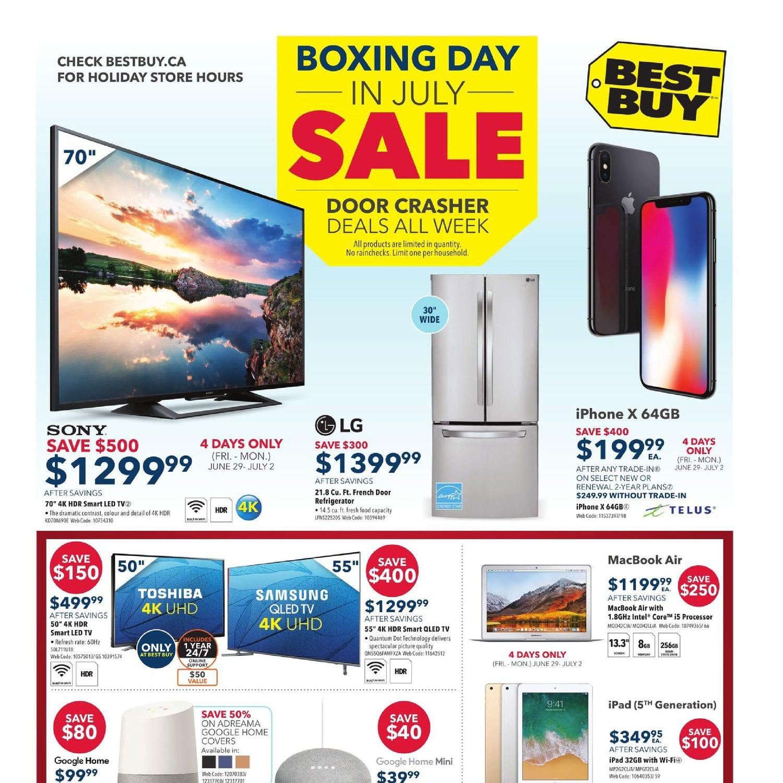 07634607cff Best Buy Weekly Flyer - Weekly - Boxing Day In July Sale - Jun 29 – Jul 5 -  RedFlagDeals.com