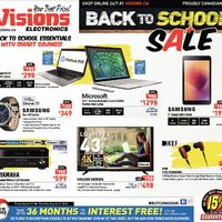 Visions Electronics - Weekly - Back To School Sale Flyer