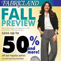 Fabricland - Fall Preview 2018 Flyer