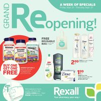 Rexall - Adelaide St. North - Grand Re-opening! Flyer