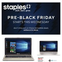 Staples - Pre-Black Friday Sale Starts This Wednesday Flyer