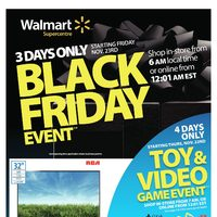 Walmart - 3 Days Only - Black Friday Event Flyer