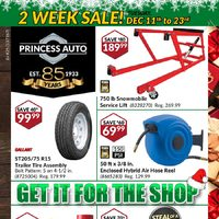 Princess Auto - 2 Weeks Sale! - Get It For The Shop Flyer