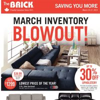 The Brick - March Inventory Blowout! Flyer