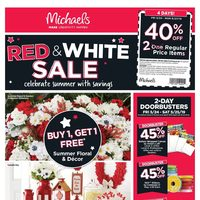 Michaels - Weekly - Red & White Sale Flyer