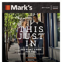 Mark's - 6 Days of Savings - This Just In Flyer