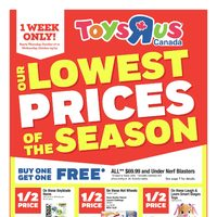 Toys R Us - Weekly - Lowest Prices Of The Season Flyer