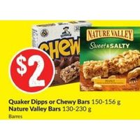 Quaker Dipps Or Chewy Bars, Nature Valley Bars