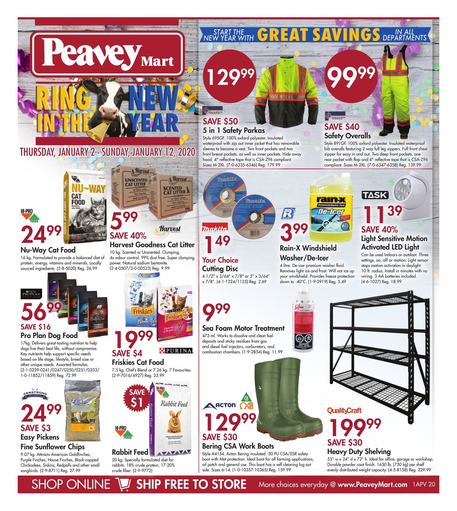 Peaveymart Weekly Flyer Ring In The New Year Jan 2 12 Redflagdeals Com