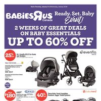 Babies R Us - 2 Week Event! - Ready. Set. Baby. Event! Flyer