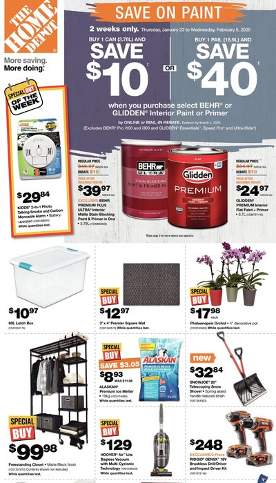 Home Depot - Weekly - Save On Paint Flyer
