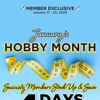 Fabricland - Member Exclusive - 4 Days Only Flyer