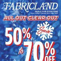 Fabricland - Deals For Everyone - All Out Clear Out Flyer