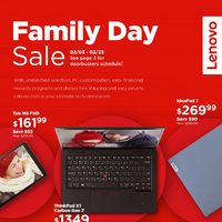 Lenovo Canada - Family Day Sale Flyer