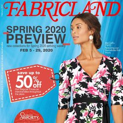 Fabricland - Spring 2020 Preview Flyer