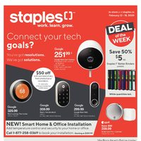 Staples - Weekly - Connect Your Tech Goals Flyer