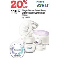 Philips Avent Single Electric Breast Pump With Bonus Power Cushion