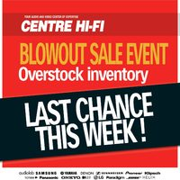Centre HIFI - Overstock Inventory Blowout Sale Event Last Chance! Flyer