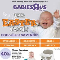 Babies R Us - The Easter Event Eggcellent Savings! Flyer
