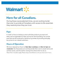 Walmart - Notice To All Customers Flyer