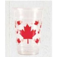 Canada Day Leaf Clear Plastic Cup