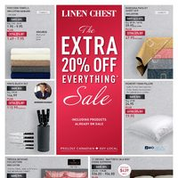 Linen Chest - The Extra 20% Off Everything Sale Flyer