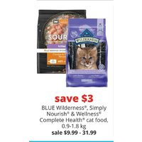 Blue Wilderness, Simply Nourish & Wellness Complete Health Cat Food