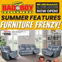 Bad Boy Furniture - Summer Features Furniture Frenzy! Flyer
