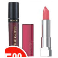 Maybelline New York Color Sensational or Revlon Superlustrous Lip Colour
