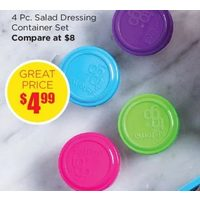 4 Pc. Salad Dressing Container Set
