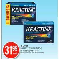 Reactine Allergy Liquid Gels Or Tablets