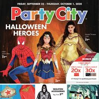 Party City - Halloween Heroes Flyer