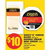 Ziggy's Cheese Slices Or Double Cream Brie Cheese