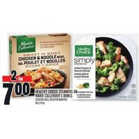 Healthy Choice Steamers or Marie Callender's Bowls