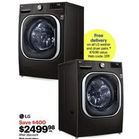 LG 5.8 Cu. Ft Front Load Washer, 7.4 Cu. Ft Electric Dryer