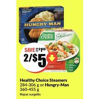 Healthy Choice Steamers Or Hungry-Man