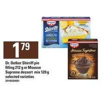 Dr. Oetker Shirriff Pie Filling Or Mousse Supreme Dessert Mix