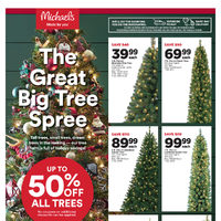 Michaels - Weekly - The Great Big Tree Spree Flyer